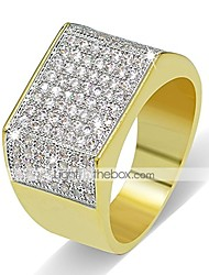 cheap -18k gold plated hip hop iced out square bling ring cubic zirconia statement wedding band ring for women men (10)