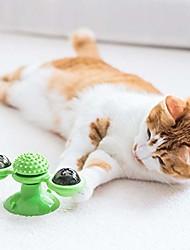 cheap -windmill cat toys kitten fidget led catnip ball (green)