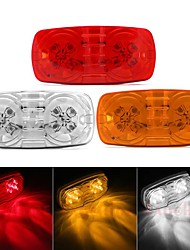 cheap -2Pcs  12V 4W  Red White Amber 10LEDs Side Marker Light For Trailer Truck Tractor Lorry Clearance Lamps Turn Signals Running Light