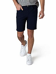 """cheap -but& #39;s casual stretch knit jean shorts, classic 5-pocket design, classic fit knit denim shorts, 9.5"""" inseam, navy, 36"""