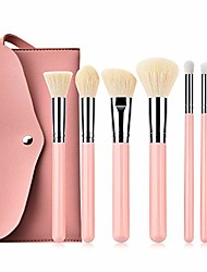 cheap -professional and home use make-up brushes sets luxury makeup brush sets pro 7pcs makeup brushes kit with pu bag cosmetic beauty tools accessories premium synthetic (color : pink)