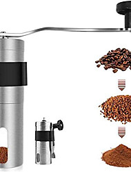 cheap -manual coffee grinder, mini size for carry,hand coffee grinder with adjustable setting,brushed stainless steel hand crank conical burr mill for precision brewing (5.2inch height)