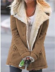 cheap -denim wool long sleeve warm outerwear - red / xxl