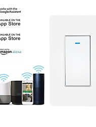 cheap -US Standard Wall 1 Way Switch Wifi Switch Alexa Voice Remote Control Switch