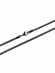 "cheap -3.0 mm stainless steel wheat silver chain necklaces for men & women 16"" -30"" (black, 24.00)"