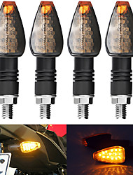 cheap -2Pcs Motorcycle Turn Signal Smoke Lens LED Amber Indicator Light Blinker Universal 24V 14LED Light