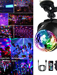 cheap -5V USB Disco Light Ball Lighting Car Home Wedding Outdoor Party DJ Stage Light Projector with Remote Adjustable Base