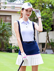 cheap -Women's Golf Tee Tshirt Sleeveless Breathable Quick Dry Soft Sports Outdoor Autumn / Fall Spring Summer Cotton White / Black Pink / Stretchy