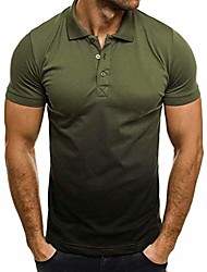 cheap -men's new collar short sleeves breathable formal us size polo clothing short sleeves performance polo shirt army green