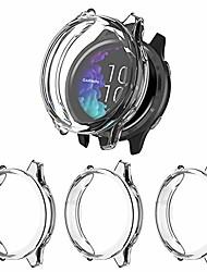 cheap -3 pack screen protector compatible with garmin venu case, soft tpu bumper full around anti-scratch cover for garmin venu gps smartwatch, clear/clear/clear
