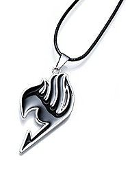 cheap -new anime fairy tail magic association's symbol 4 colors alloy necklace pendent u pick (black)