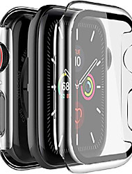 cheap -[2 pack] case for apple watch 40mm se/series 6/5/4, [model no. 3356], built-in tempered glass screen protector, hard pc protector cover for iwatch 40mm (clear)