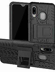 cheap -galaxy a10e case, samsung a10e case, [shockproof] tough rugged dual layer protective case hybrid kickstand cover for samsung galaxy a10e (black)