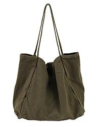 cheap -Women's Bags Polyester Linen Tote Shopper Bag City Shopping Outdoor 2021 Canvas Bag Handbags White Black Green Brown