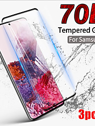cheap -3PCS 100D Curved Tempered Glass For Samsung Galaxy S20 Ultra S20 Plus  S20 Screen Protector For Samsung Note 10 Pro Note 10 9 8 Samsung Galaxy S10 Lite S10 9 8 Plus