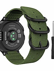 cheap -watch band compatible with garmin forerunner 235, fine woven nylon adjustable replacement strap for garmin forerunner 235/220 / 230/620 / 630 / 735xt smart band - army green