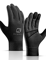 cheap -Winter Bike Gloves / Cycling Gloves Touch Gloves Warm Skidproof Skiing Full Finger Gloves Sports Gloves Fleece Black Pink Grey for Adults' Road Cycling Outdoor Exercise Cycling / Bike