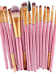 cheap -15 pcs makeup brush set eye shadow eyeliner cosmetic make up tool professional natural beauty palettes eyeshadow spruce popular eyes face colorful rainbow hair highlights glitter travel kit, type-15