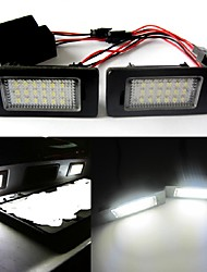 cheap -2Pcs 2W 12V 6500K 18SMD Car LED Number License Plate Light Lamp For Audi Q5 A4 TT TTS TTRS A5 A6