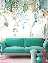 cheap -Plants Botanical Art Deco Home Decoration Classic Modern Wall Covering, Canvas Material Adhesive required Wallpaper Mural Wall Cloth, Room Wallcovering