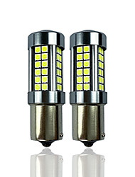 cheap -OTOLAMPARA 2PCS Car LED P21W Brake Light All Aluminum Heat Dissipation 600% Halogen Color Lightness Five Sides Lighting 1156 Car LED Bulb BA15S White Color