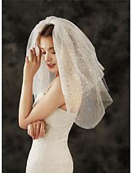 cheap -Three-tier Lattice / Vintage Style Wedding Veil Elbow Veils with Tier 23.62 in (60cm) Tulle