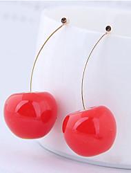 cheap -Women's Drop Earrings Earrings Jacket Earrings Cherry Fruit Korean Sweet Fashion Cute Resin Earrings Jewelry Red / Yellow / Brown For 1 Pair