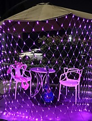 cheap -3mx2m 200 LEDs Net Lights Curtain Lights Fishing Net Lights White Warm White Blue Multi-color Christmas Tree Home Décor Party Purple Blue Warm White Multi Color White