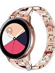 cheap -compatible for samsung galaxy watch active(40mm) band,women 20mm metal jewelry bracelet strap replacement wristband for samsung galaxy watch active 2/active/galaxy watch 42mm (dark rose gold)