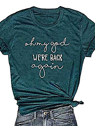 cheap -women oh my god we& #39;re back again t shirt backstreet boy short sleeve graphic tee top teen girl concert shirt & #40;s, red& #41;