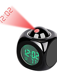 cheap -LCD Projection LED Display Time Digital Alarm Clock Talking Voice Prompt Thermometer Snooze Function Desk