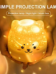 cheap -Night Light Starry Sky Projection Lamp 360 Degree Rotating Music Night Light Colorful Romantic Flashing Night Lamp Baby Kid Gift-Can Be Used Wirelessly After Charging
