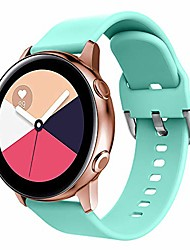 cheap -replacement bands compatible for galaxy watch active2 40mm/44mm bands/galaxy watch active 40mm/galaxy watch 42mm/gear sport s4(r600)/gear s2 classic,quick release with metal secure clasp, teal