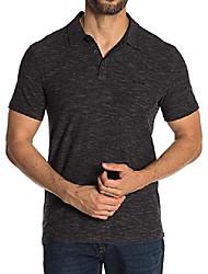 cheap -star usa men's short sleeve two tone 3 stars polo shirt medium black
