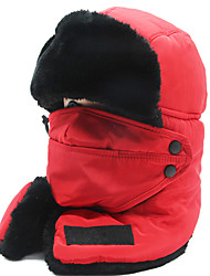 cheap -Women's Men's Hiking Cap Beanie Hat 1 set Winter Outdoor Windproof Warm Soft Thick Neck Gaiter Neck Tube Skull Cap Beanie Solid Color Cotton Blend Black Red Pink for Fishing Climbing Running