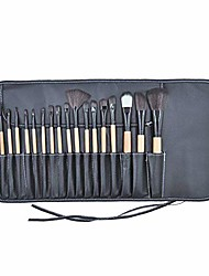 cheap -18pcs cosmetic makeup brushes set,makeup brush kit with bag eye shadow brush wood handle