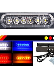 cheap -1pcs Motorcycle / Car Light Bulbs 18 W 6 LED Strobe / Flashing For universal All Models All years