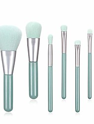 cheap -makeup brushes 7 piece makeup brushes set premium synthetic kabuki foundation blending face powder mineral eyeshadow make up brushes set makeup queen best gifts for women girls (tiffany blue)