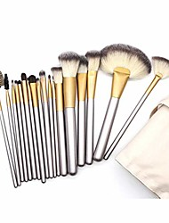 cheap -makeup brushes set 12/18/24pcs cosmetic tool kit eyeshadow powder brush set case professional face eye shadow eyeliner foundation (18 pcs)