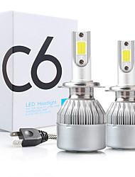 cheap -2pcs C6 H1 H3 Led Headlight Bulbs H7 LED Car Lights H4 880 H11 HB3 9005 HB4 9006 H13 6000K 9-30V Auto Headlamps