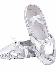 cheap -ballet shoes split-sole slipper flats ballet dance shoes for toddler girl kid women in gold,silver,pink glitter colors & #40;silver, numeric_12& #41;