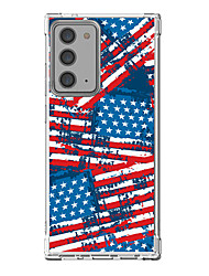 cheap -National Flag Graphic Design Case For Samsung Galaxy S21 20 Plus S20 Ultra Note 20 10 S20 FE Design Protective Case Shockproof Clear Back Cover TPU