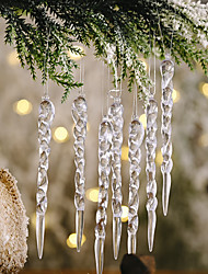 cheap -12pcs Christmas Transparent Icicle Pendant New Christmas Tree Decoration Thread Pendant Tree Ornaments