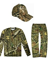 cheap -Men's Hoodie Camouflage Hunting Pants Camouflage Hunting T-shirt Outdoor Quick Dry Breathable Sweat wicking Wear Resistance Autumn / Fall Spring Summer Camo / Camouflage Top Bottoms Polyester Taffeta
