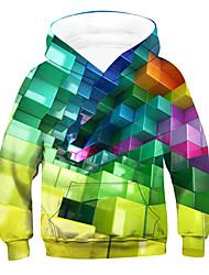 cheap -Kids Boys' Hoodie & Sweatshirt Long Sleeve 3D Drawstring Rainbow Children Tops Active Basic Children's Day