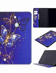 cheap -Case For Apple iPad Pro (2020) 11'' iPad 7 (2019) 10.2'' iPad Air 3 (2019) 10.5'' Wallet Card Holder with Stand Full Body Cases Purple Butterfly PU Leather TPU for iPad 5 (2017) 9.7''