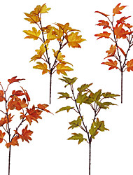 cheap -Artificial Plants Plastic Stage Props Maple Tabletop Flower 1 Branch