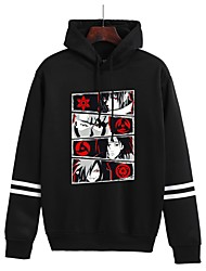 cheap -Inspired by Naruto Uchiha Hoodie Anime Polyester / Cotton Blend Graphic Prints Printing Harajuku Graphic Hoodie For Women's / Men's