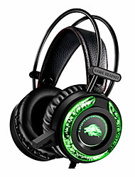 cheap -Gaming Gamer Headphones  5.1 Surround Sound Stereo Wired Earphones USB Microphone Colourful Light PC Laptop Game Headset