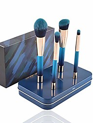 cheap -makeup brushes 4pcs artificial fiber magnetic cosmetic brushes for powder foundation brushes cosmetic tools